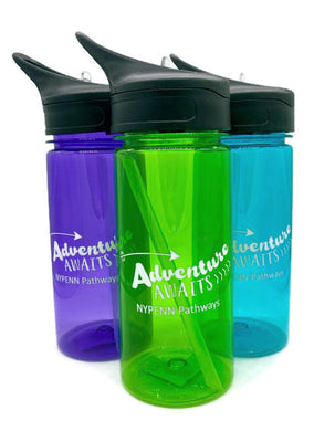 17 Oz Camp Water Bottle With Straw | Adventure Awaits NYPENN Pathways