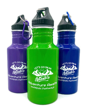 17 Oz Aluminum Camp Water Bottle With Matching Carabiner | Adventure Awaits NYPENN Pathways