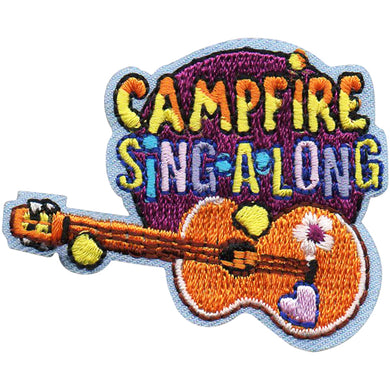 Camp Fire Sing-A-Long Badge Fun Patch