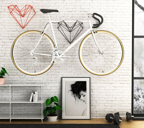 Bike on wall small space