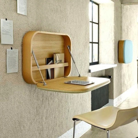 Fold out desk for small spaces