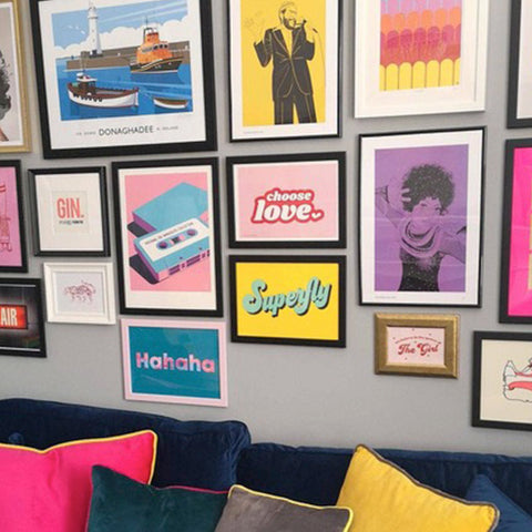Art wall for small spaces