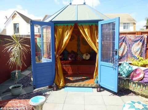 bright colour working from home pod