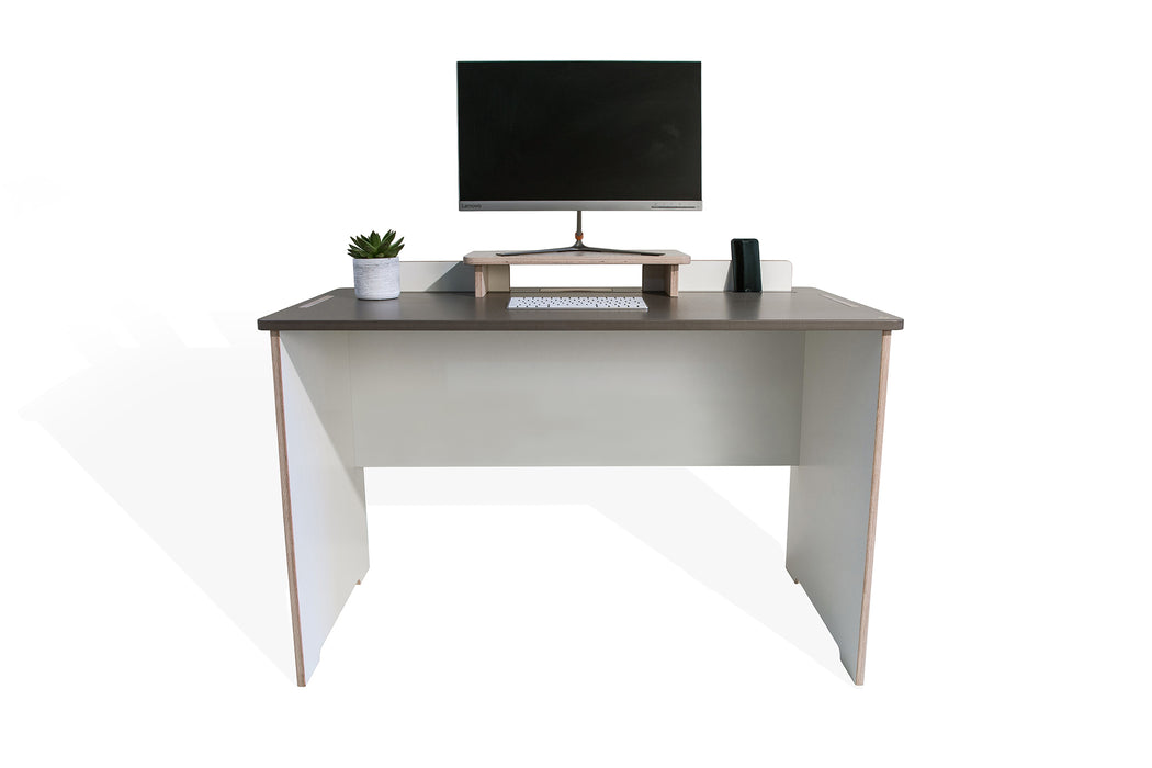 The Flo Home Office Desk- handmade desk by TORMAR with Mona monitor stand