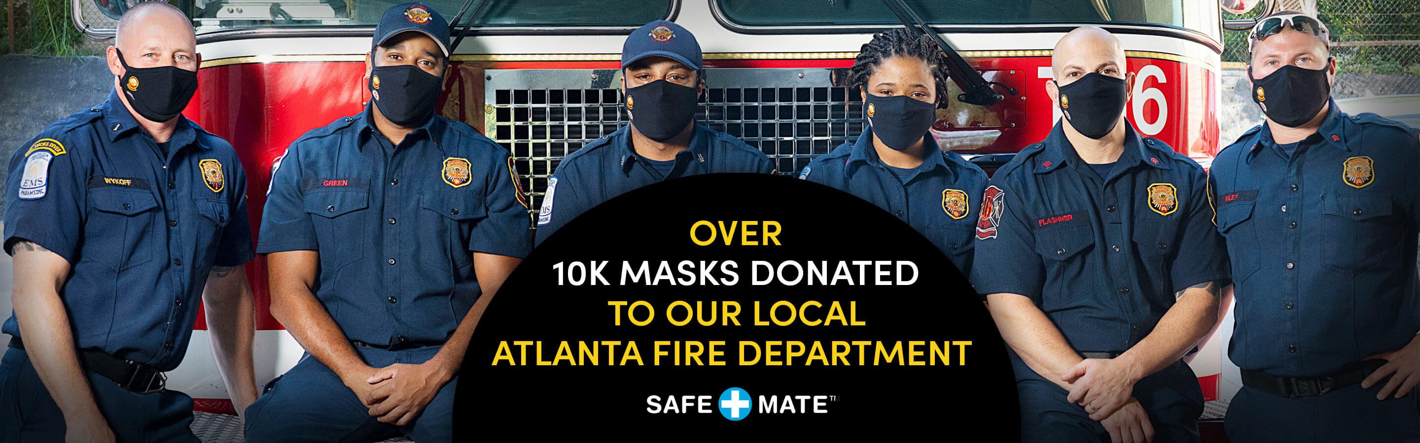 CM Brands Gives Masks to the Atlanta Fire Department