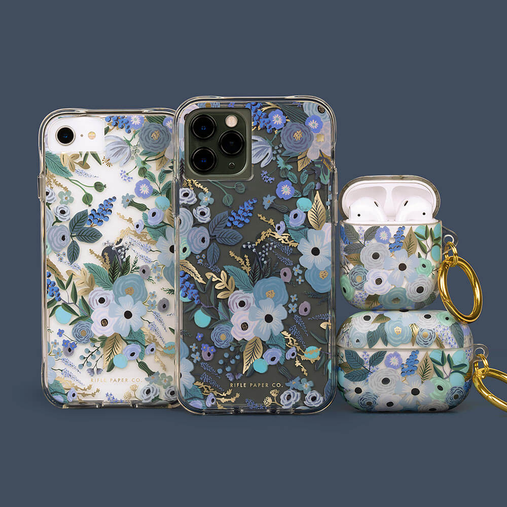 Rifle Paper Co. phone case and AirPods case