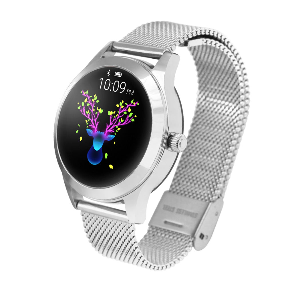 Ladies Round Screen Smart Watch Bracelet