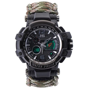 Multifunctional Waterproof Military Tactical Paracord Watch