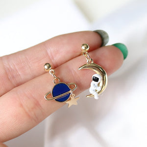 Astronaut Tassel Earrings