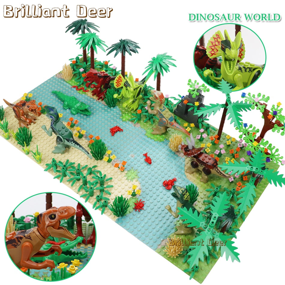 New Jurassic Dinosaur World Tree Forest Kids Toys