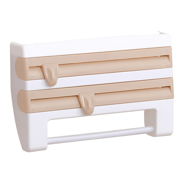 Wall-Mounted Paper Towel Holder with Sauce Bottle Rack
