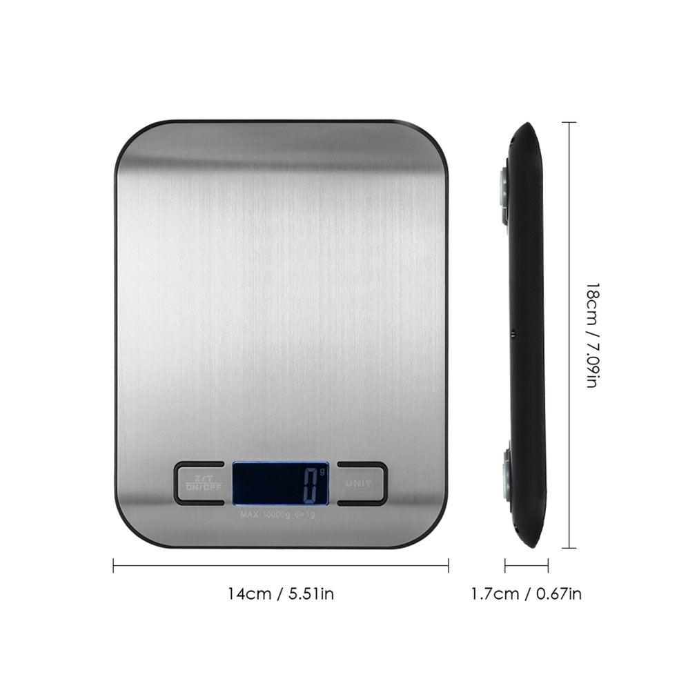 Stainless Steel Electronic Kitchen Scale 5Kg 10Kg