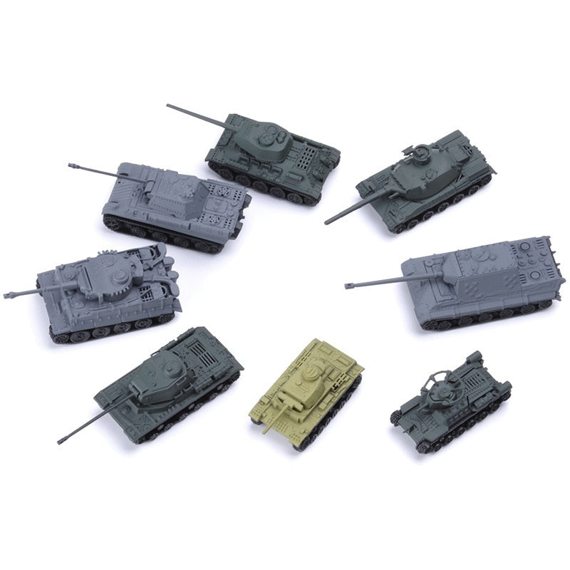 8pcs/set World War IITank Assembly Model