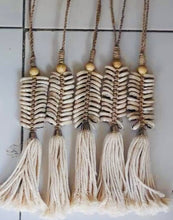 Load image into Gallery viewer, Braided Tassel Shell Hanging Decor - Short