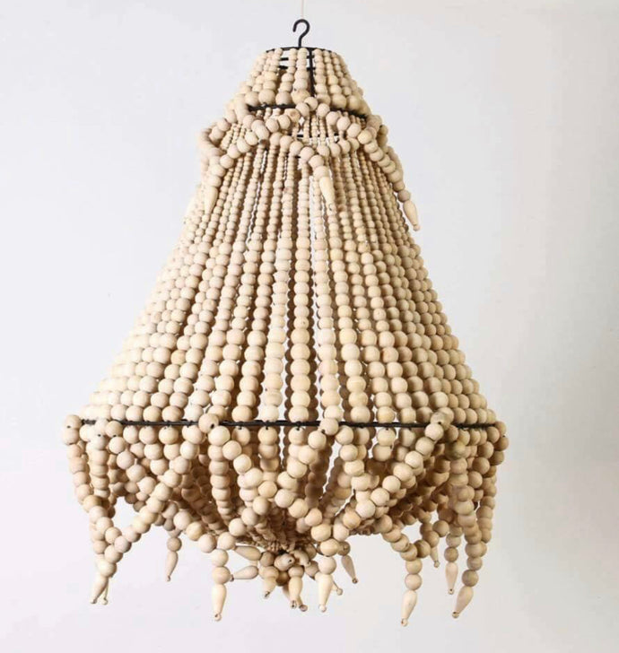 Beaded Chandelier 50cm Natural