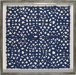 Taj Paper Wall Art 60 x 60cm Navy and Grey