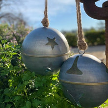 Load image into Gallery viewer, Rustic Christmas Bell - Star 23.5cm diameter (Large)