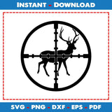 Buck In Scope Deer Decal Hunting SVG Files