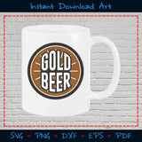 Gold Beer SVG Cutting Printable Files