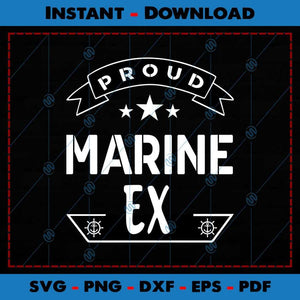 Proud Marine Ex SVG Cutting Files