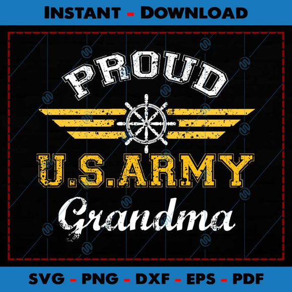 Proud US Army Grandma SVG Cutting Files