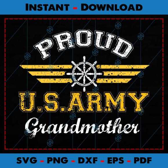 Proud US Army Grandmother SVG Cutting Files