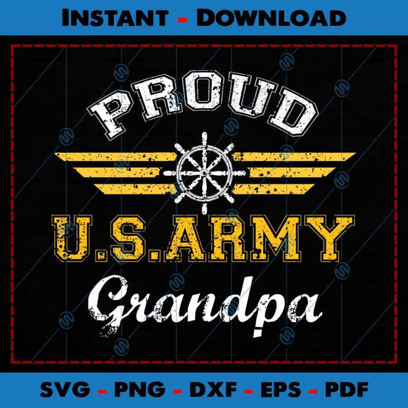Proud US Army Grandpa SVG Cutting Files