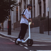 You ride TAUR with your feet either side of the frame on fold-down foot platforms. The fully forward-facing ride position ensures incredible stability, 2.5x wider than conventional electric scooter designs.