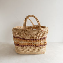 Load image into Gallery viewer, Vintage straw market bag - Estelle