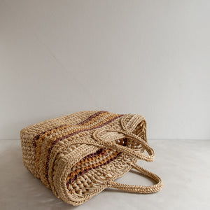 Vintage straw market bag - Estelle