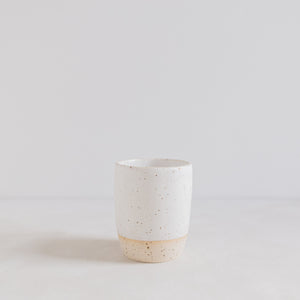 Cappuccino mug - Matt white speckle