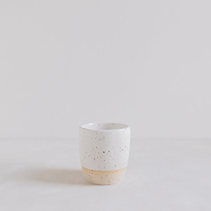 Coffee mug - matt white speckle