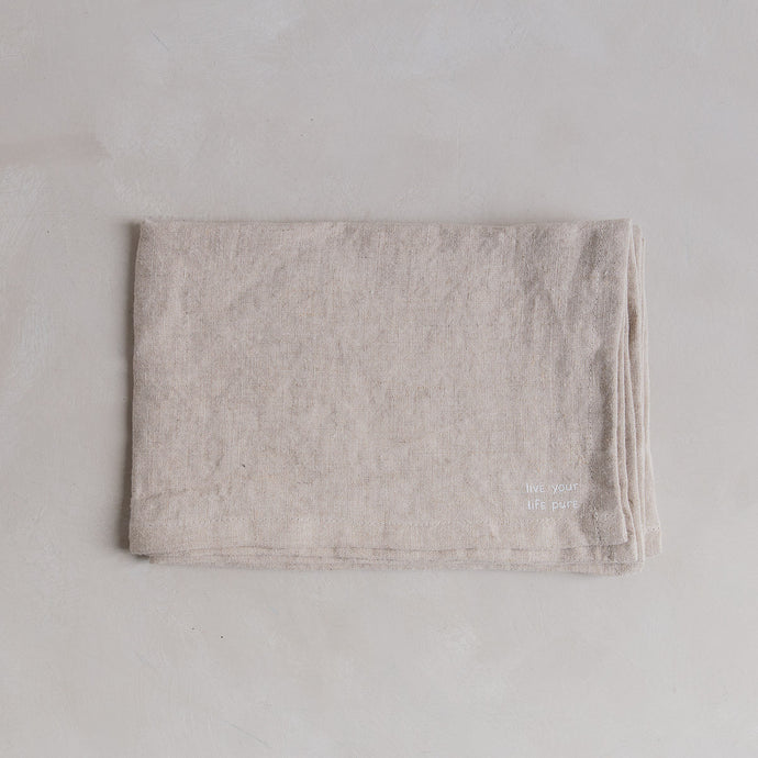 Linen tea towel - Flax