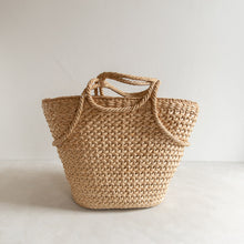 Load image into Gallery viewer, Vintage straw bag - Magnolia