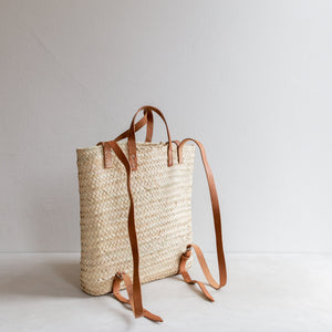 Straw backpack - square