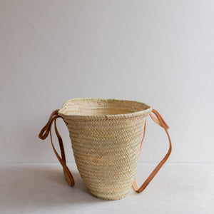 Classic straw basket - double handle