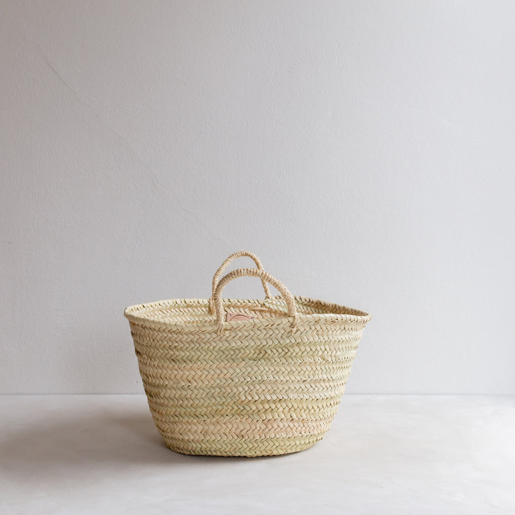 Classic straw basket - small