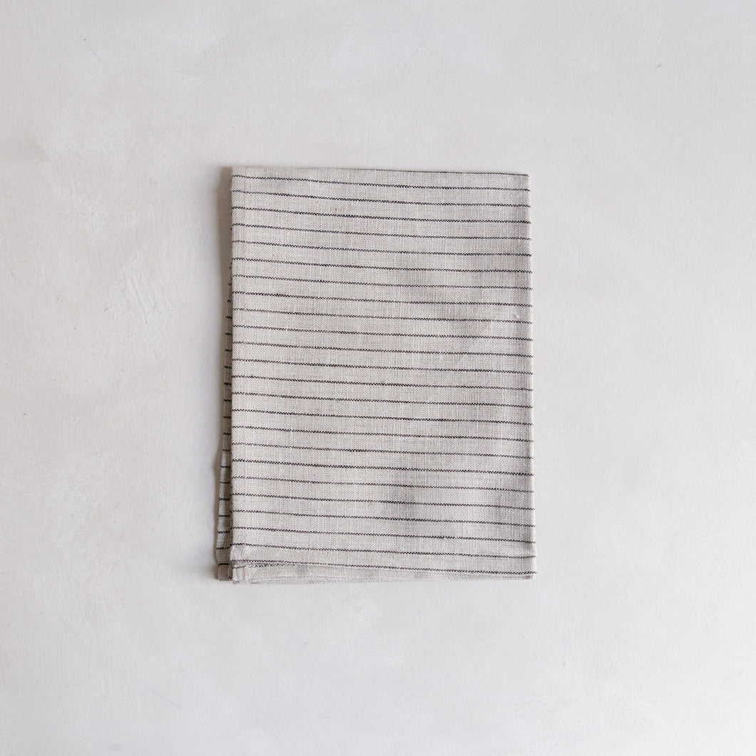 Tea towel - natural stripe