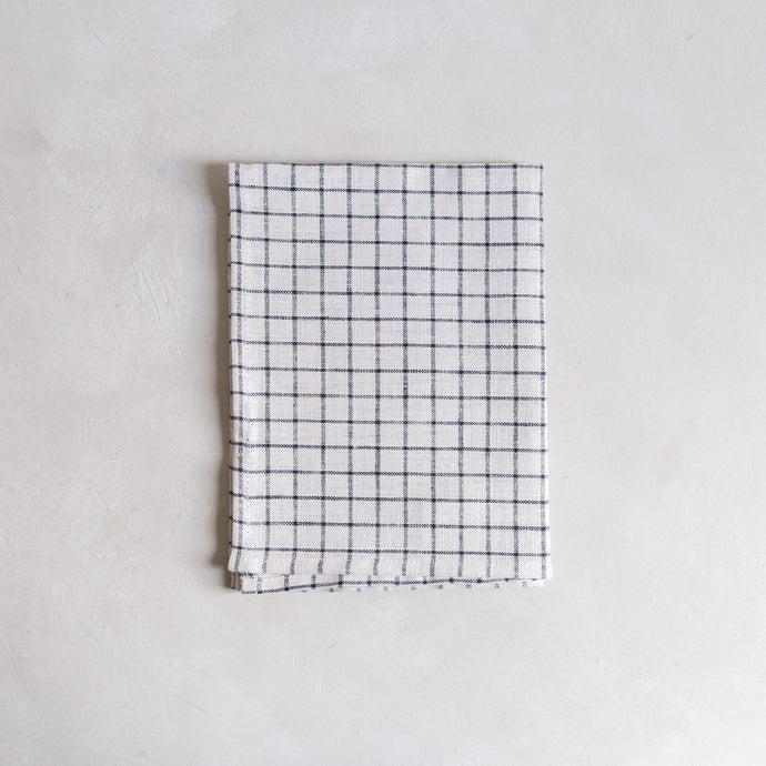 Tea towel - white check