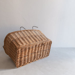 Vintage straw bike basket - Truus