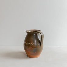 Load image into Gallery viewer, Vintage ceramic jug - green glaze