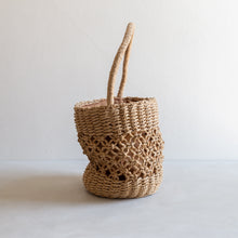 Load image into Gallery viewer, Paper straw handbag - beige