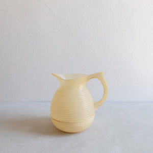 Vintage plastic pitcher - cream