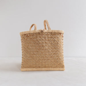 Vintage straw backpack - small