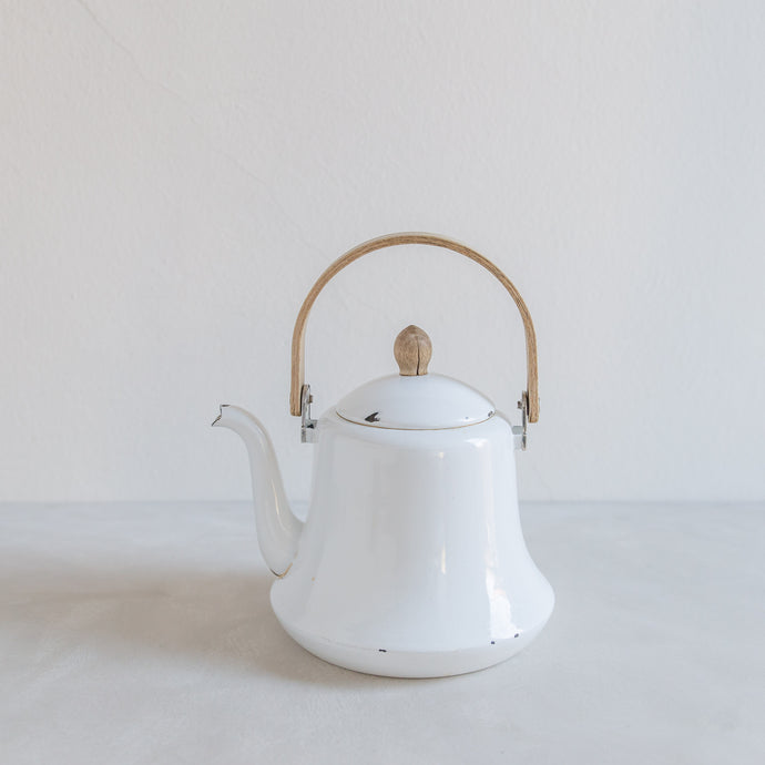 Vintage tea kettle - enamel