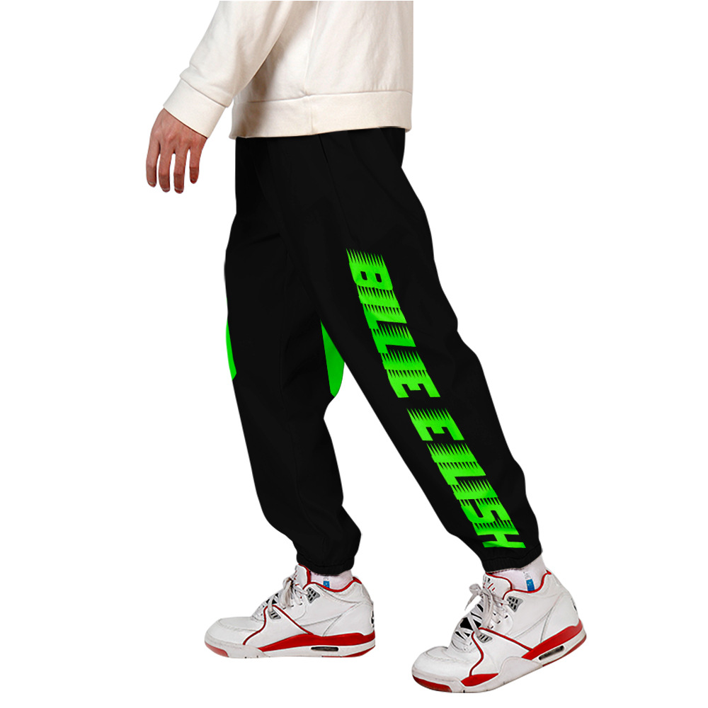 Billie Eilish Sport Pants Unisex Straight Sweatpants Joggers Unewchic