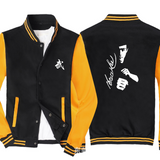 Men Bruce Lee Graphic Jackets Hoodie Pullover Sweatshirt