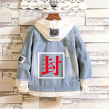 Toilet-Bound Hanako-kun Jean Jacket Fake Two Pieces Hooded Demin Coat