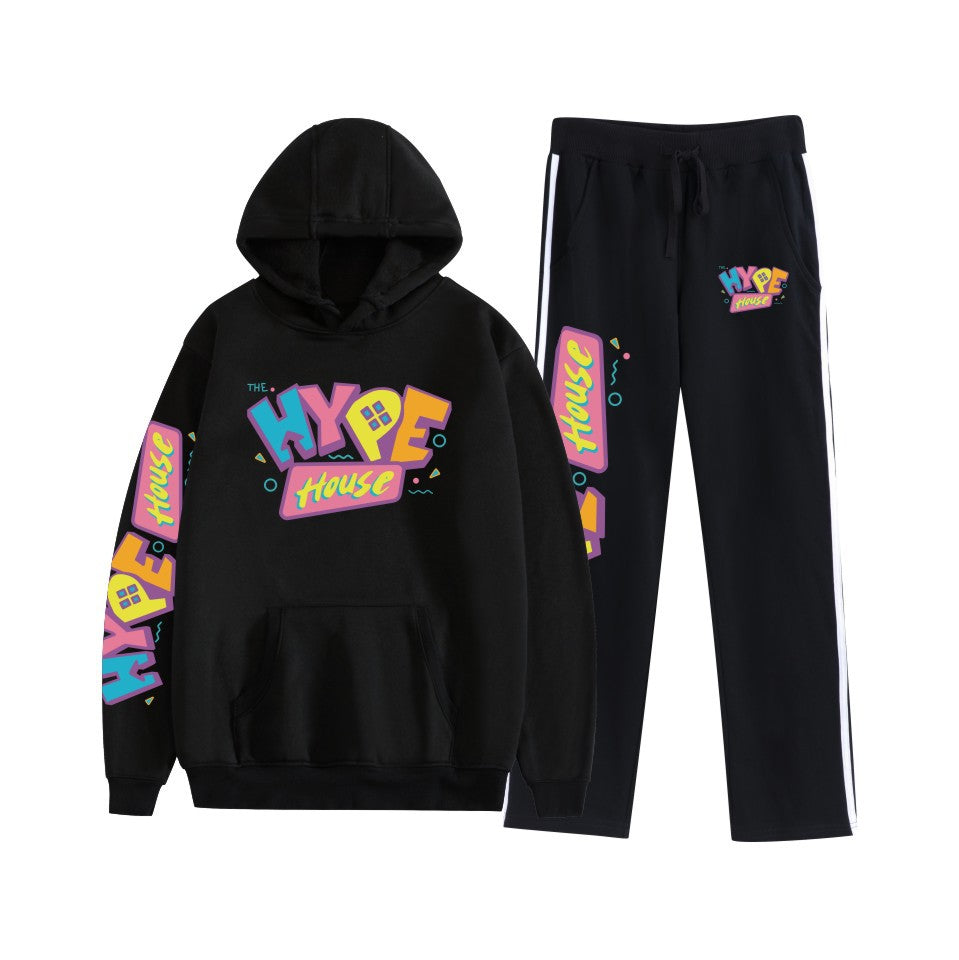 The Hype House Sweatshirt Hoodie + Sweatpants Tracksuit 2 Piece Sets
