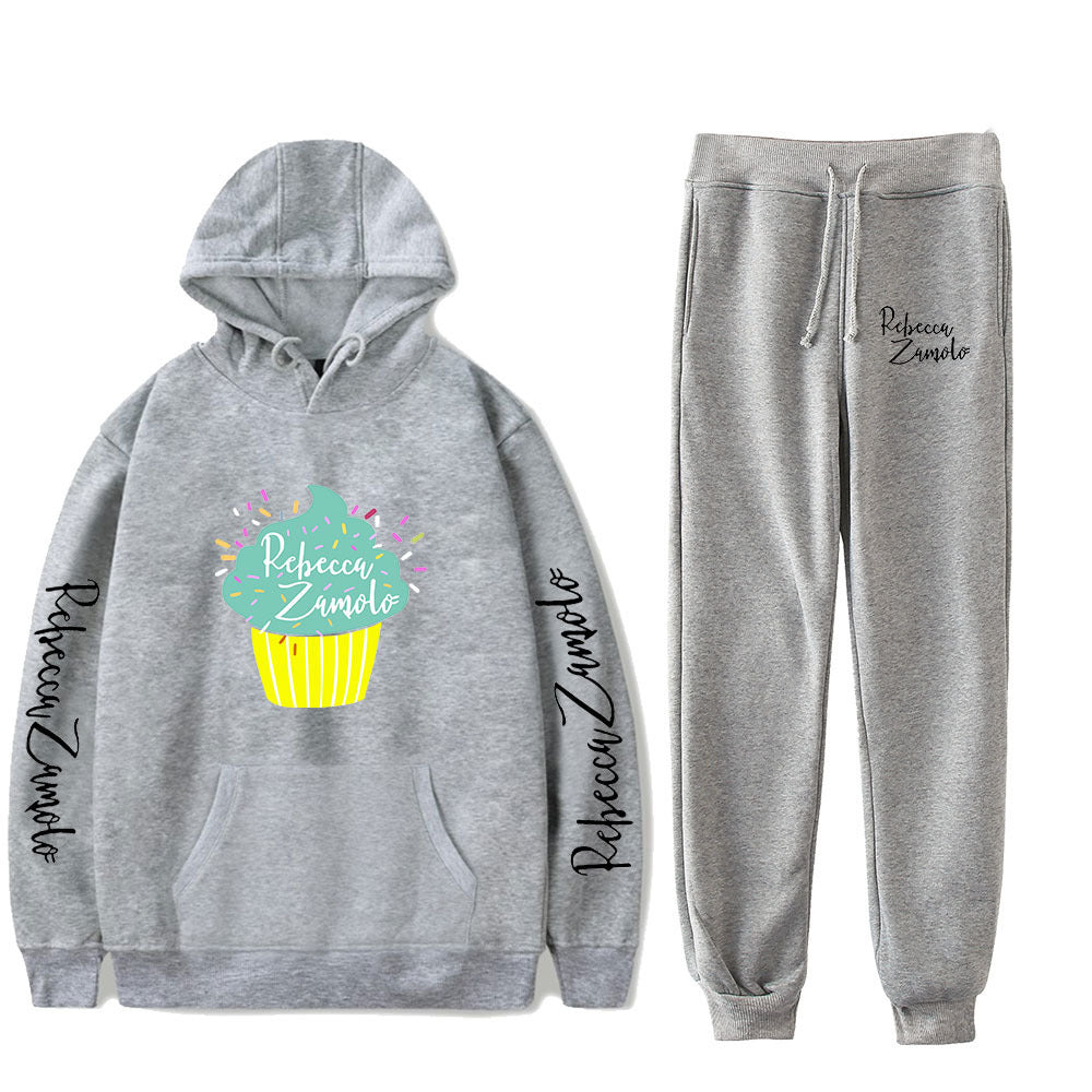 Fashion Rebecca Zamolo Hoodie and  Sweatpants Suit Unisex Hooded Sweatshirts